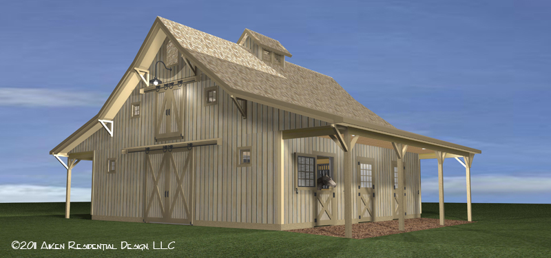 Horsebarn construction conclusion for Rustic pole barn plans